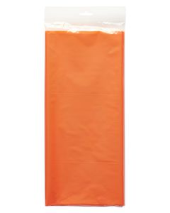 orange plastic table cover 54 in. x 108 in.