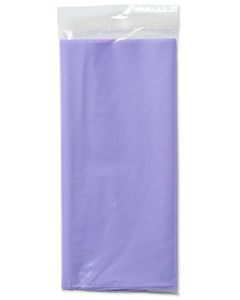 lavender plastic table cover 54in x 108in