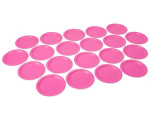 bright pink dinner round paper plate 20 ct
