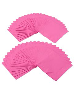bright pink lunch napkins 50 ct