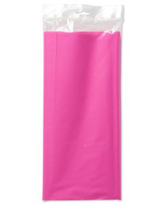 bright pink plastic table cover 54in x 108in