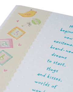 warm wishes baby shower card with foil