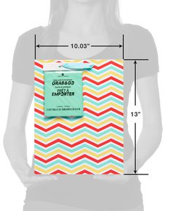 medium summer chevron gift bag with tissue
