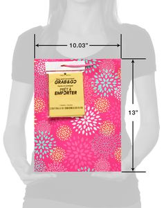 medium pink florals gift bag with tissue