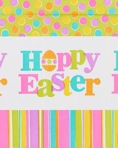 hoppy easter plastic table cover 54 in. x 102 in.