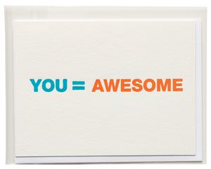 you = awesome thank you card