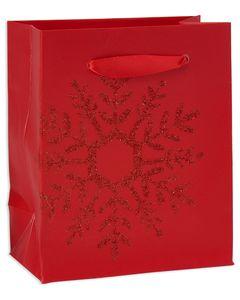 mini red snowflake christmas gift bag