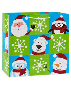 large block characters christmas gift bag
