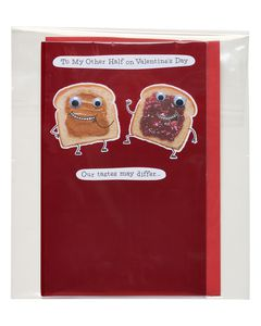 peanut butter and jelly valentine's day card
