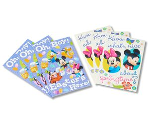 mickey mouse easter cards, 6-count