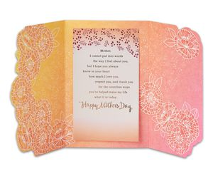 mean so much mother's day card