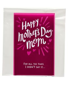 i love you mother's day card