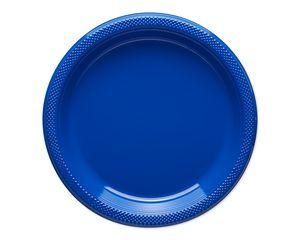 royal blue dessert plates 20 ct