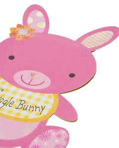 snuggle bunny new baby girl congratulations card with foil
