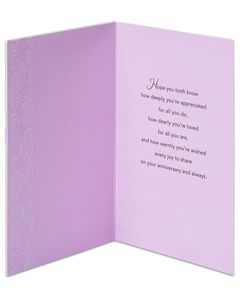 anniversary card for couple