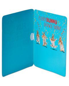 bunny birthday card