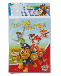 paw patrol invite and thank you combo pack 8 ct
