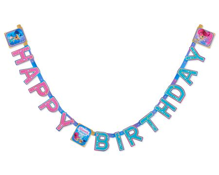 Shimmer and Shine Hinge Birthday Party Banner