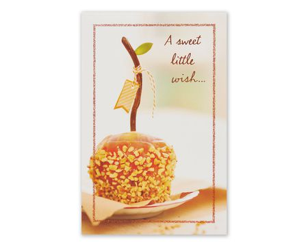 Pumpkin Thanksgiving Card with Foil, 6-Count