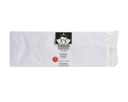 white tissue paper 100 sheets