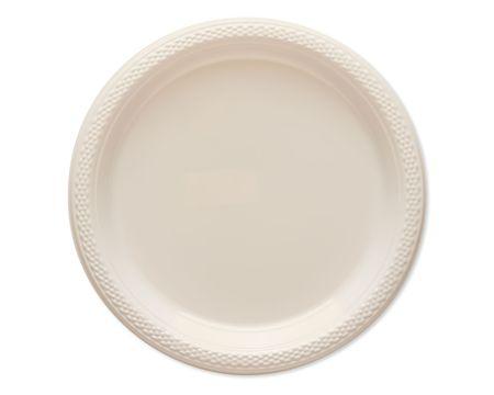 white plastic dessert plates 20 ct