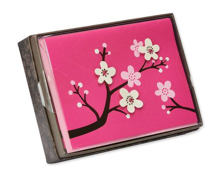 cherry blossoms blank notes