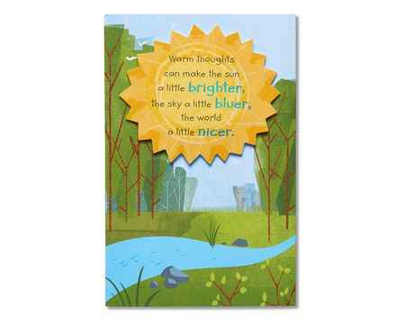 warm thoughts care and concern card