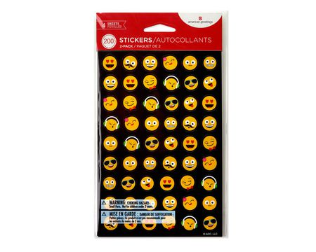 Smiles and Icon Stickers, 200-Count