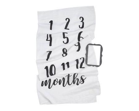 Mud Pie Baby Monthly Milestone Photo Blanket