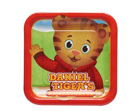 Daniel Tiger 8-Count Dinner Square Plate