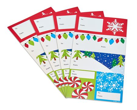 winter wonderland christmas gift tags stickers