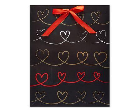 Medium Hearts Scroll Gift Bag