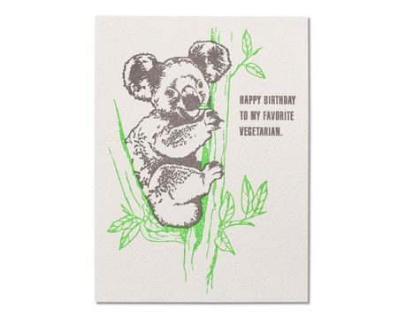 Vegetarian Birthday Card