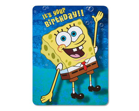 SpongeBob SquarePants Birthday Card