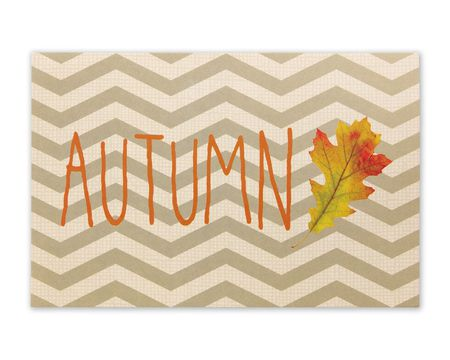 Chevron Autumn Thanksgiving Card, 6-Count