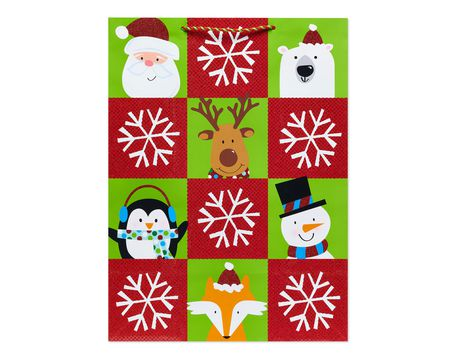 Winter Friends Blocks Jumbo Christmas Gift Bag