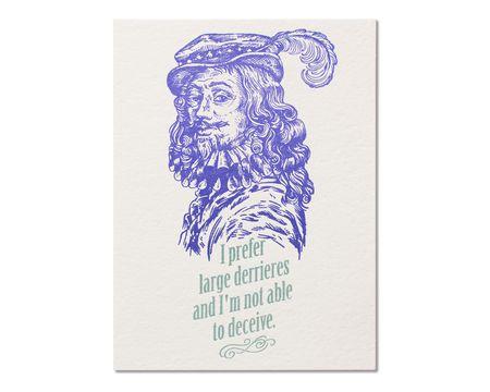 Man Who Knows Birthday Card