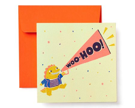 Woo-Hoo Greeting Card for Kids - Birthday, Congratulations, Thinking of You, Friendship, Encouragement
