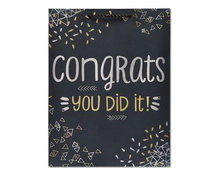 medium metallic congrats gift bag
