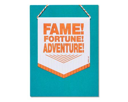 Fame Fortune Adventure Congratulations Card