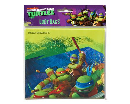 teenage mutant ninja turtles treat bags 8 ct