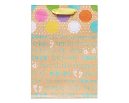 small little hands and feet baby gift bag