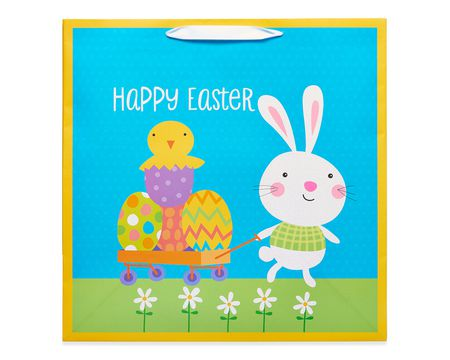 extra-large happy easter gift bag