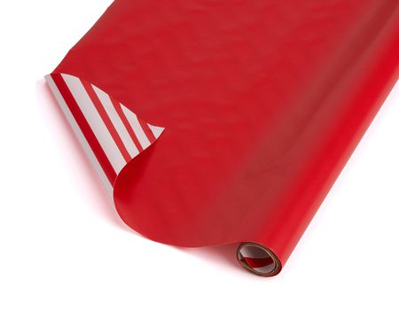 reversible red with stripes wrapping paper