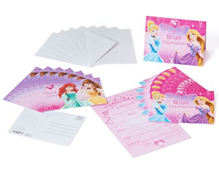 disney princess invite and thank you combo pack 8 ct