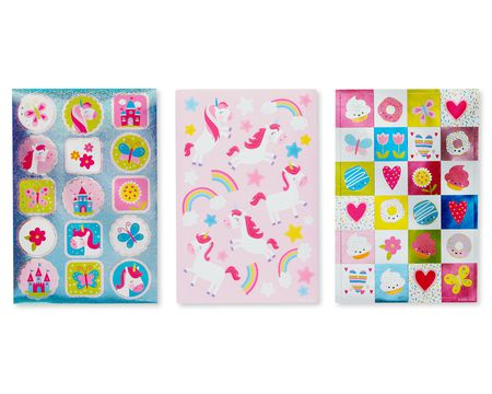 Unicorns and Rainbow Variety Sticker Sheets, 221-Count