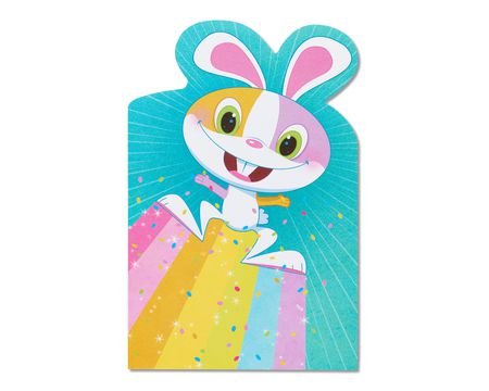 rainbow bunny easter card, 6-count