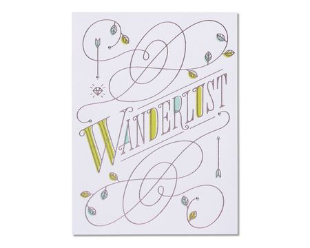 Wanderlust Birthday Card
