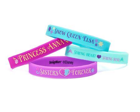 frozen rubber bracelets 4 ct