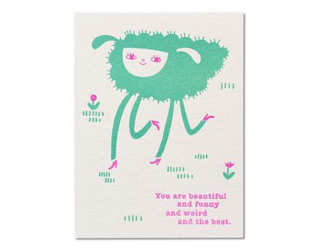 Beautiful Funny Weird Birthday Card